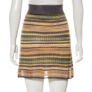 Genuine Classic M Missoni Knit Mini Skirt sz 44 S